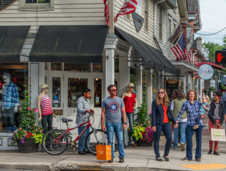 Shoppers in New Hope