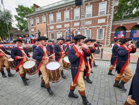 The Independence Day parade through Philadelphia's Historic District