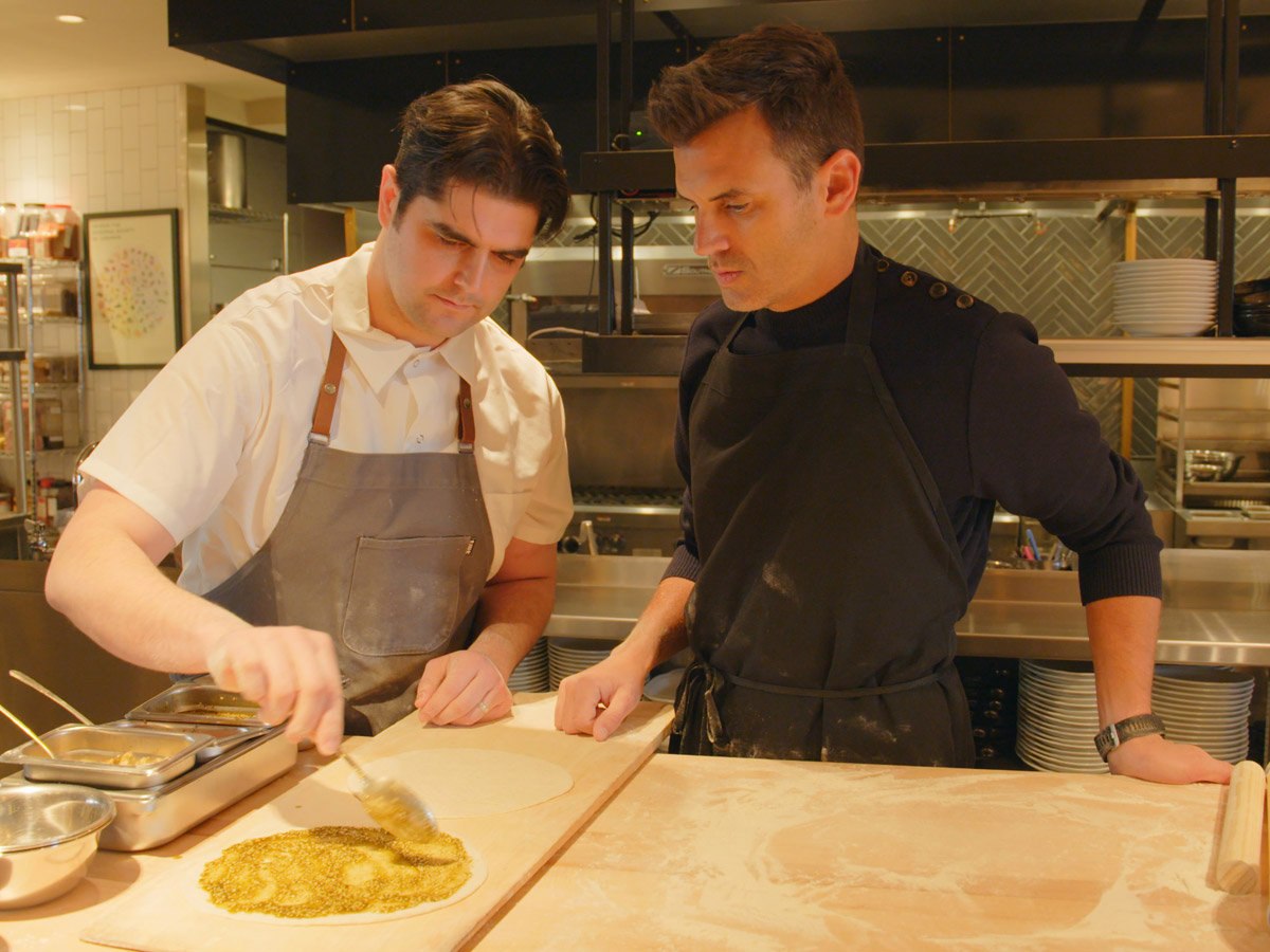 Chef Nick Kennedy and Bon Appetit editor Andrew Knowlton at Suraya